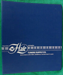 1994 Hale Tuners Supply Co Binder Vintage Piano Tuning Tools Parts And Accessories