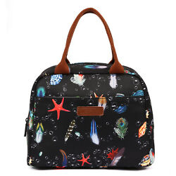LOKASS Lunch Bag Lunch Box Cooler Bag Insulated Tote Feather New