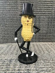 Vintage Planters Peanuts Mr. Peanut Plastic Coin Bank Tan And Black Made In Usa 2