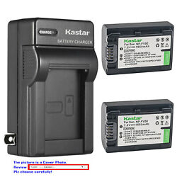 Kastar Battery Wall Charger for Sony NP FV50 NP FV30 amp; Sony FDR AX43 Handycam