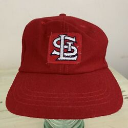 St Louis Cardinals - Vtg 60s-70s Wool Red Fitted Elastic Stretch Hat, Mens Large
