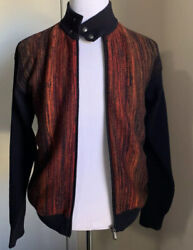 Nwt 1980 Bottega Veneta Men Cashmere Cardigan Sweater Burgundy/black M 50 E