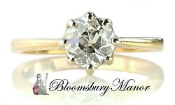 Antique 0.75ct G/si2 Old Cut Round Diamond Engagement Ring In 18k Gold