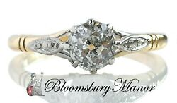 Antique Victorian 0.50ct G/h/si1 Old Cut Diamond Engagement Ring In 18k Gold