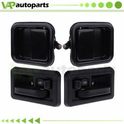 For Jeep Wrangler Exterior Interior Front Left Right Side 2 Pair Door Handles