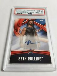 2017 Topps On Demand Seth Rollins Autograph Wrestling Card 810 PSA 10 WWE ROH