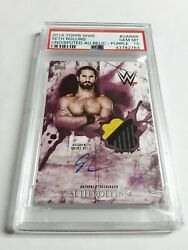 2018 Topps WWE Undisputed Seth Rollins Autograph Relic Wrestling Card 55 PSA 10