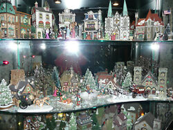 Dept 56 Dicken's Village Snow And Christmas In The City Bldgs People Trees Etc