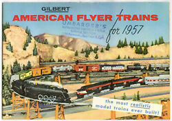 1957 American Flyer Gilbert Train Catalog Authentic Nm Sore Stamped S.d.
