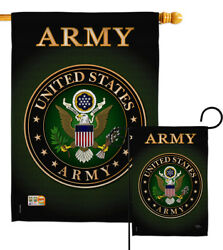 Us Army Garden Flag Armed Forces Rangers Military Veteran Gift House Yard Banner