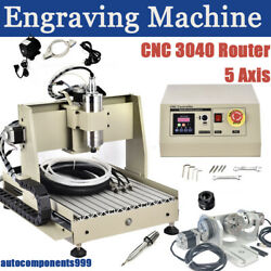 800w 5 Axis Cnc 3040 Router Engraving Drilling Cutting Milling Engraver Machine