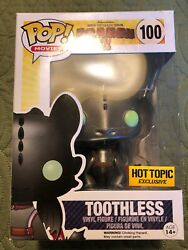 Funko Pop Movies 100 Toothless Metallic Httyd2 Hot Topic Exclusive