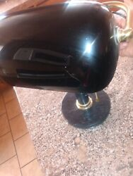 Antique Vintage Black Glass And Marble Bankers Light Fixture Lamp