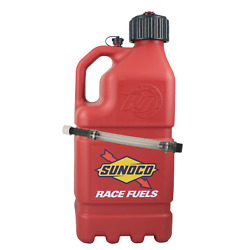 Sunoco Racing Red 5 Gallon Race Utility Jug With Deluxe Filler Hose