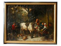 19th Century European Stable Painting