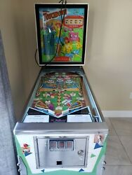 Vintage Pinball Machine. Mid 1960and039s Football Game. Excellent Cond. Inside And Out.