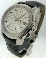 Baume And Mercier Capelan Chronograph - Stainless Steel - Silver Dial - Mvo45216