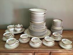 60yr Old Paden City Pottery American, 22 Kt. Gold, Flower Dishes, Floral Tea Cup