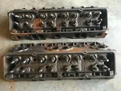 69 70 1969 Chevrolet Small Block Performance Cylinder Heads W/ Springs 3973370