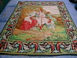 Antique French Tapestry Signed And Dated 1800. 6'10 X 6'0