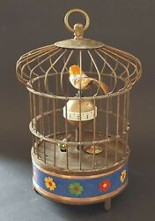 Chinese Brass And Cloisonnandeacute Vintage Victorian Oriental Antique Bird Cage Clock