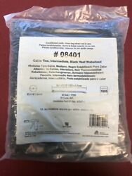 1000 Avery Dennison 8.0 X 0.13 Black Cable Ties Heat Stabilized 08401 Zip