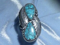 Classic Southwestern Natural Lone Mountain Turquoise Ring, Sterling, Size 7