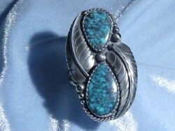Classic Southwestern Natural Lone Mountain Turquoise Ring, Sterling, Size 8