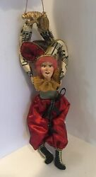 Katherineand039s Collection Wayne Kleski Retired 10andrdquo Jester Musical Note Ornament Nos