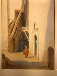 Earlier Water Colour By R.de Noter. Depicting Architecture Of Arabic Community