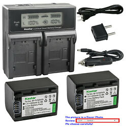 Kastar Battery Lcd Dual Fast Charger For Fv70 Sony Hdr-xr155 Hdr-xr160 Hdr-xr260