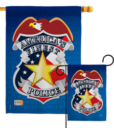 Police Garden Flag Military Cop Patrol Law Protection Justice House Yard Banner