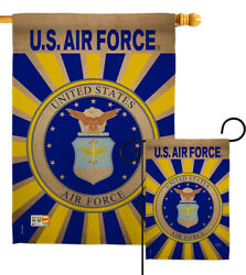 Us Air Force Garden Flag Armed Forces Usaf Military Veteran House Yard Banner