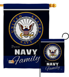 Us Navy Proudly Family Garden Flag Usn Armed Forces Military House Yard Banner