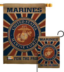 Us Marine Corps Garden Flag Military Semper Fi Usmc Armed Forces House Banner