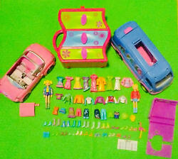 Authentic Mattel Polly Pocket Doll Clothes Accessories Playset Bus Car Furniture