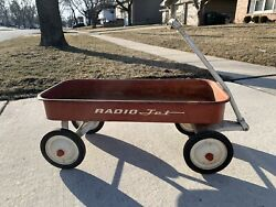 Radio Jet Wagon Vintage Rare Full Size 34 Red And White 1950s/1960s