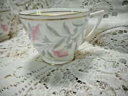 Minton Petunia And03945-and03955 4 Avail Tea Cups Gold Rim John Wadsworth Discontinued