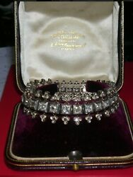 Very rare Bracelet Napoleon III 7.48 inch long with 31 diamonds cuts glittering