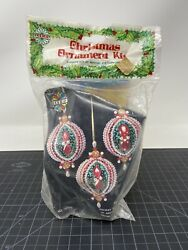 Vintage Christmas Beaded Sequin Ornament Kit Holiday Industries 3171m