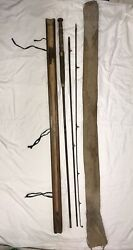 1901 Alnwick Hardy Brothers 10andrsquo 3.5andrdquo Fly Fishing Pole With Canvas Bag