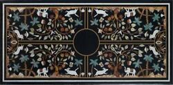 60 X 36 Black Marble Table Top Gemstone Living Room Decorative Gifts Art