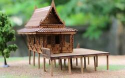 Thai Traditional Asian Replica Doll House Miniature Solid Teak Wood Craft