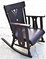 Rare Antique C 1900 Wisconsin Chair Co Bentwood Childs Rocking Chair