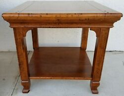 Italian Country French Guido Zichele Bloomingdales Walnut 2 Tier Side End Table