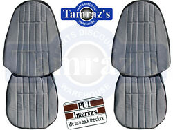1971 Camaro Deluxe Cloth Front And Rear Seat Upholstery Covers Black Pui