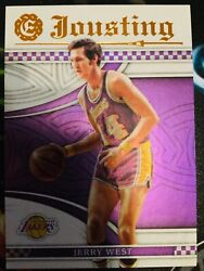 2016-17 Panini Excalibur Jousting 24 Jerry West Lakers