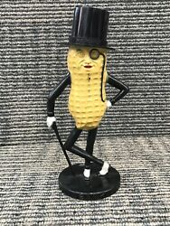 Vintage Planters Peanuts Mr. Peanut Plastic Coin Bank Tan And Black Made In Usa 1
