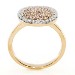 0.70ct Natural Fancy Pink Diamonds Engagement Ring 18k Solid Gold 5g Rounds
