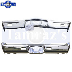 For 68 68 El Camino Front And Rear Bumper Chrome Plated New